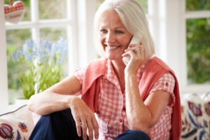 Woman Home Talking Phone
