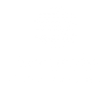 Accurate Home Nursing Logo Stacked Wh