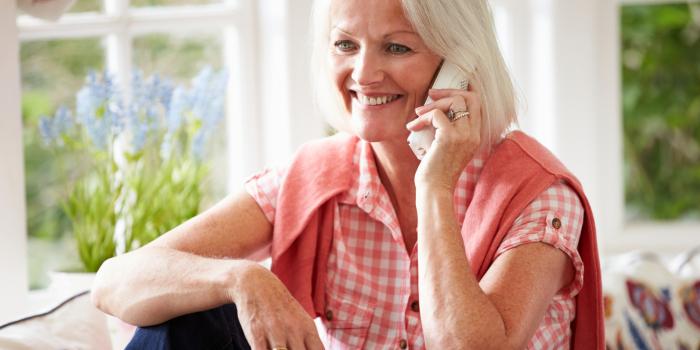 Woman Home Talking Phone